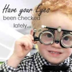 Product branding image promoting kids eye-ware