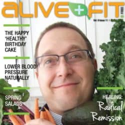 Cover of Alive and Fit magazine that can be downloaded from the website as a PDF